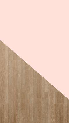 Pale Pink + Wood Grain | Free iPhone 6 Wallpaper