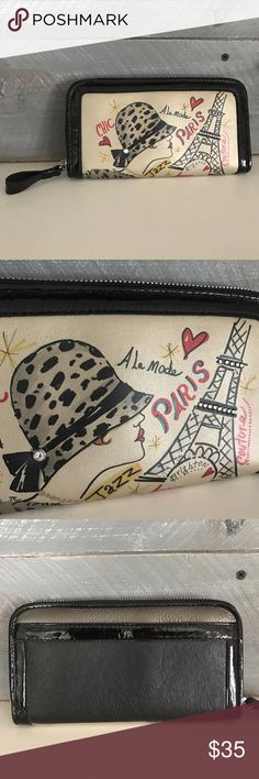 Brighton Paris Wallet In very good condition! Let me know if you have questions! Brighton Bags Wallets