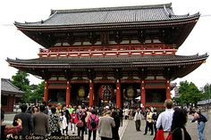 Tokyo, Asakusa, Sensoji Temple...One of the top attractions of Asakusa is the Sensoji Temple, a Buddhist temple from the 7th century.