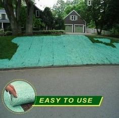 Grass Seed Mat, Planting Grass Seed, Garden Grass, Grass Rolls, Garden Solutions, Flower Food, Plantar, Food Storage Containers, Lush Green