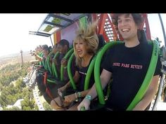 Lex Luthor Drop Of Doom World's Tallest Drop Ride Rider POV Six Flags Magic Mountain