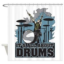 Its All About Drums Shower Curtain for