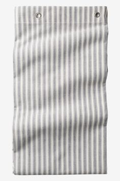 Objects Of Design Organic Ticking Stripe Shower Curtain - Mad About The House