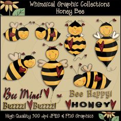 whimsical bees