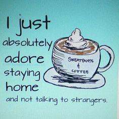 Strangers are bad....