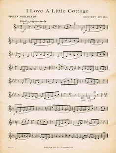 Cottage Poem & Sheet Music