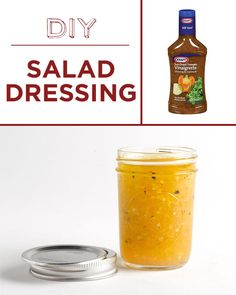 Salad dressing is better (and cheaper) when you make it yourself. | 30 Foods Youll Never Have To Buy Again
