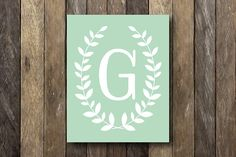 Customized Monogram  Printable Wall Art  Mint by TheLionAndTheLark