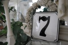 number 7 for decor