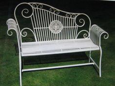 set giardino tavolo + 4 sedie in ferro e textilene per esterno ... - Tavolo Panca Da Giardino