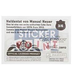 Panini Em Euro 2012 Manuel Neuer Sticker 3 von 6 hinten