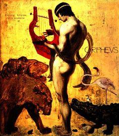 Orphée, capable de jouer de la musique et de calmer, hypnotiser les bêtes. Il a fait parti des Argonautes.