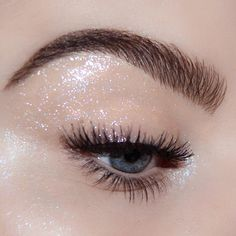 S P A R K L E ✨Glossy eye makeup look using Pat McGrath Labs 'CYBER CLEAR EYE GLOSS' from the DARK STAR 006 eye makeup kit | Glitter eye makeup | Party Makeup | Instagram: @brookesimonsmua | Shop the look on PATMcGRATH.COM