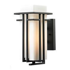 Elk Lighting 45085/1-LED Croftwell 1 Light LED Outdoor Wall Sconce Matte Black Outdoor Lighting Wall Sconces