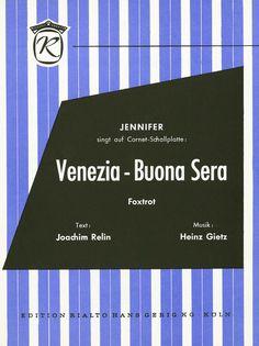 JENNIFER - VENEZIA - BUONA SERA - 1968 - FOXTROT - MUSIK HEINZ GIETZ - SCHLAGER