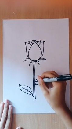 Diy Art Painting, Rose Drawing, Art Drawings Simple, Drawings For Boyfriend, Art Drawings, Art Drawings For Kids, Drawings, Diy Canvas Art Painting, Diy Canvas Art