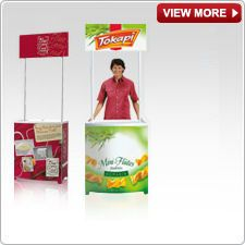 CLICK to View more Promotional Display Counters Outdoor Signs, Indoor Outdoor, Exhibition Display Stands, Retail Counter, Signage Display, Banner Stands, Pop Up, Graphic Design, Led