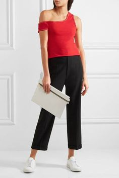 Jacquemus - One-shoulder Cotton-jersey Top - Red - FR
