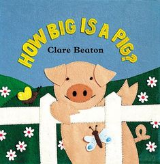 On Sale in June! How Big is a Pig?  Follow an inquisitive pig as he asks all kinds of barnyard animals a barrage of questions. The rhyming, question-and-answer text presents opposites and animals in a colorful farmyard setting.  Also available in Spanish! www.wereadbarefoot.com