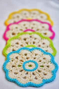 Beautiful Crochet Coasters - with free pattern                                                                                                                                                                                 More