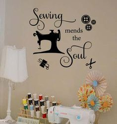Sewing Room Design, Sewing Room Decor, Sewing Room Organization, Sewing Art, Sewing Rooms, Sewing Crafts, Sewing Projects, Sewing Hacks, Sewing Humor