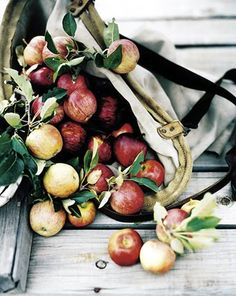Apples - what says fall more than a bushel of apples.  Not to mention the pie that follows