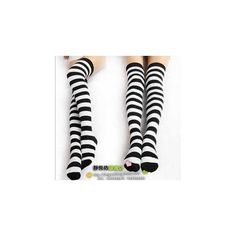 Striped Knee Socks (29 BRL) ❤ liked on Polyvore featuring intimates, hosiery, socks, accessories, shoes, socks/tights, white knee high socks, white knee socks, white hosiery and purple socks