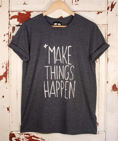 Make Things Happen - Heather Navy T Shirt