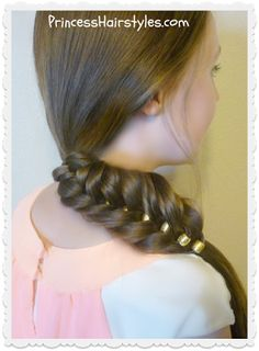 Beaded fishtail braid tutorial.  Easy and quick.