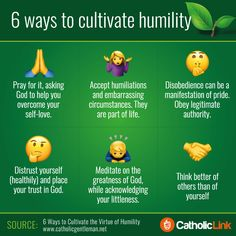 Catholic quotes, infographics, memes and more resources for the New Evangelization. Infographic: 6 simple ways to cultivate humility. Nicene Creed, Catholic Sacraments, Greece History, Selfish People, Help The Poor, Scripture Study, Bible, Classical Education, Catholic Quotes
