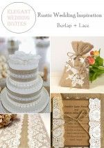 Rustic Burlap & Lace Wedding Decorations and Inspiration