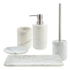 Buy John Lewis White Marble Bathroom Accessories Online at johnlewis.com