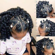 Bantu Knot Hairstyles, Lil Girl Hairstyles, Black Kids Hairstyles, Girls Natural Hairstyles, Crochet Braids Hairstyles, Kids Braided Hairstyles, Diy Hairstyles, Crochet Hairstyles For Kids, Curly Hair Braids