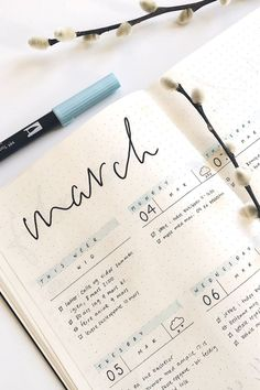 Starting a new weekly spread in your bullet journal and need some cute ideas? Check out these awesome March spreads for inspiration! journal inspiration Bullet Journal Weekly Spread Ideas For March 2020 - Crazy Laura Bullet Journal Writing, Bullet Journal Notebook, Bullet Journal Aesthetic, Bullet Journal School, Bullet Journal Ideas Pages, Bullet Journal Spread, Bullet Journal Inspo, Bullet Journals, Bullet Journal Goals Layout