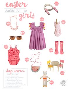 EASTER/SPRING STYLE GUIDE:  An easter basket styled for your cutie pie! www.momsbestnetwork.com