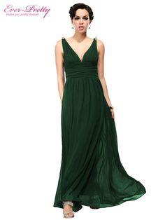 Ever Pretty Red Double V Elegant Evening Dress