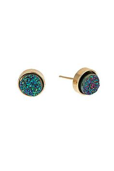 Dara Ettinger Felicia Disco Druzy Stud Earrings, $95, available at Max and Chloe.