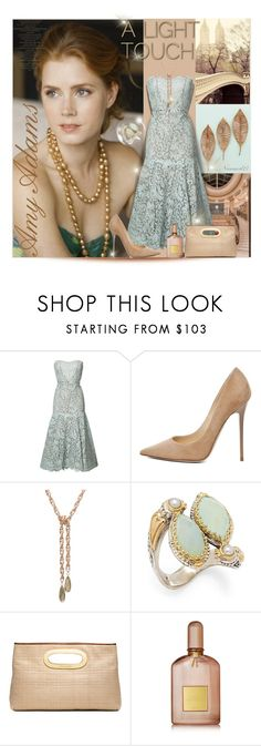 """A light touch..."" by nannerl27forever ❤ liked on Polyvore featuring Monique Lhuillier, Jimmy Choo, Konstantino, MICHAEL Michael Kors and Tom Ford"