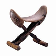 Egypt  -  folding wooden headrest 1225bc