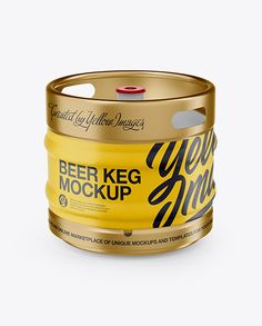 30L Matte Beer Keg Mockup