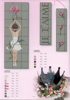 point de croix danseuse - cross stitch ballerina, dancer