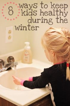 8 ways to keep kids healthy during the winter // lots of essential oil tips!
