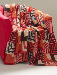 Yarnspirations.com - Caron Southwest Geometric Blanket - Patterns  | Yarnspirations