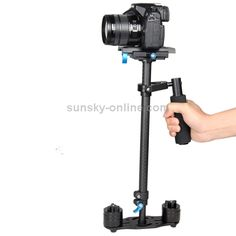 [USD62.69] [EUR56.88] [GBP44.50] YELANGU S60T 60cm Carbon Fiber Handheld Stabilizer for DSLR Camera DV(Black)