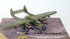 Hersteller: HobbyBoss| Sparte: Historische Flugzeuge | Katalog Nummer: 87261 - US P-61A Black Widow Maßstab: 1:72 | Einzelteile: 91 | Länge: 210mm | Spannweite: 279mm Black Widow, Scale Models, Fighter Jets, Aircraft, World, Creative, Locomotive, World War Two, Catalog