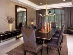 Modern-ceiling-designs-for-dining-room-dining-room-modern-with-tray-ceiling-crown-molding-tile-floor.jpg (990×748)