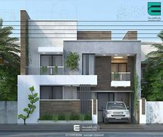 26 Trendy House Front Facade Ideas House Outside Design, House Front Design, Small House Design, Modern House Design, House Architecture Styles, Architecture Design, Decoration Facade, Appartement Design, Bungalow House Design