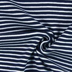Baumwolle - Elasthan - marineblau  Für schöne Strickjacken