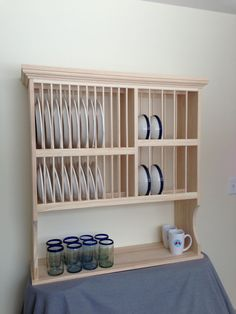 Plate Racks - Made to Order Etsy (NicoletWood Products) Make a plate and bowl & 95 best Kitchen Plate rack wall mount images on Pinterest | Dish ...