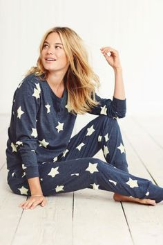 Buy Navy Star Pyjamas from the Next UK online shop OR grey - size small.